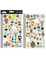 Doodlebug pumpkin party mini icons sticker