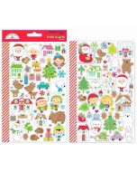 Doodlebug Christmas Town Mini Icon Stickers