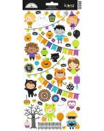 Doodlebug pumpkin Party icon stickers