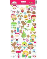 Doodlebug Christmas Town Icon Stickers
