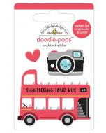 Double Decker Doodle-Pops - I Heart Travel - Doodlebug Design