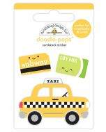 Taxi! Doodle-Pops - I Heart Travel - Doodlebug Design