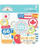 I Heart Travel Tags Odds & Ends - Doodlebug Design
