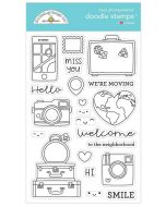 I Heart Travel Doodle Stamps - Doodlebug Design