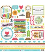 I Heart Travel This & That Stickers - Doodlebug Design