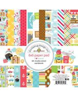 "I Heart Travel 6"" x 6"" Paper Pad - Doodlebug Design"
