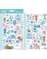 Winter Wonderland Mini Icons Stickers - Doodlebug Design *