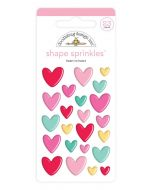 Heart to Heart Shape Sprinkles - Love Notes - Doodlebug Design
