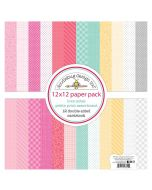 "Love Notes Petite Print 12"" x 12"" Assortment Pack - Doodlebug Design"