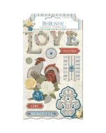 Boulevard Layered Chipboard Stickers - Bo Bunny