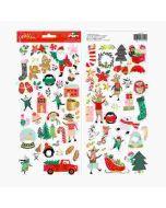 Merry Little Christmas Sticker Sheet - Pebbles