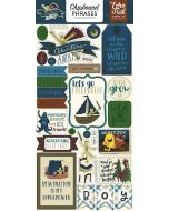Echo Park Chipboard Stickers - Adventure Awaits