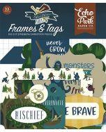 Echo Park Ephemera Frames & Tags - Adventure Awaits