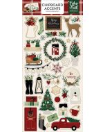 "A Cozy Christmas 6"" x 13"" Chipboard Accent Stickers - Echo Park"