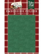 Merry Christmas Embossing Folder - A Cozy Christmas - Echo Park