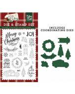 Let's Get Cozy Die & Stamp Set - A Cozy Christmas - Echo Park