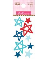 Patriotic Stars Acrylic Shapes