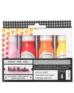 American Crafts - All The Good Things Collection - Mediums - Acrylic Color Pop Paint - Set 1