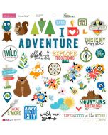 Let's Go On An Adventure Chipboard Icons