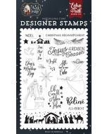 All Is Calm Stamp Set - Away In A Manger - Echo Park