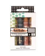 American Crafts - All The Good Things Collection - Mediums - Art Crayons - Set 3 - Neutrals