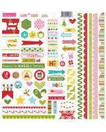 Santa Squad Doohickey Cardstock Stickers - Bella Blvd