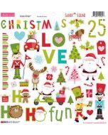 Santa Squad Chipboard Icons - Bella Blvd