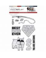 Best Dad Ever Stamps - Becky Fleck - PhotoPlay