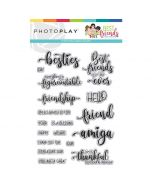 Best Friends Words Stamps - Becky Fleck Moore - PhotoPlay