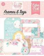 Echo Park Hello Baby Girl Frames & Tags Package