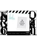 Black one inch letterboard lettes