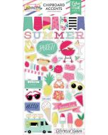 "Best Summer Ever 6"" x 13"" Chipboard Accents - Echo Park"