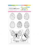Bunny Trail Color Me Card + Egg Die