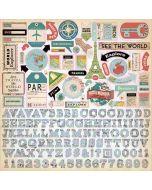 Cartography No. 1 Element Stickers - Carta Bella