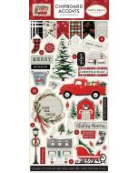 "Christmas Market 6"" x 13"" Chipboard Accent Stickers - Carta Bella"