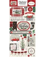 "Christmas Market 6"" x 13"" Chipboard Phrase Stickers - Carta Bella"