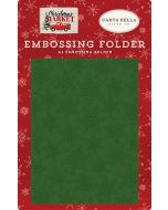 Market Snow Embossing Folder - Christmas Market - Carta Bella