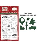 Happy Holidays Die & Stamp Set - Christmas Market - Carta Bella