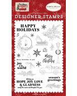 Happy Holidays Stamp Set - Christmas Market - Carta Bella
