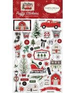 Christmas Market Puffy Stickers - Carta Bella