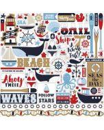 Deep Blue Sea Element Stickers - Carta Bella
