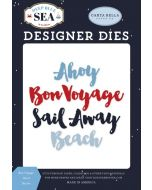 Bon Voyage Word Die Set - Deep Blue Sea - Carta Bella