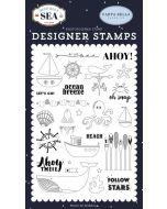 "By The Sea 4"" x 6"" Stamp Set - Deep Blue Sea - Carta Bella"