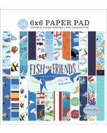 "Fish Are Friends 6"" x 6"" Paper Pad - Carta Bella"