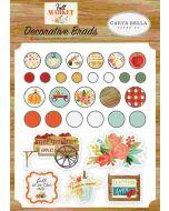Fall Market Decorative Brads - Carta Bella