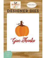 Give Thanks Pumpkin Die Set - Fall Market - Carta Bella