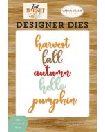 Hello Autumn Word Die Set - Fall Market - Carta Bella