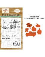 Autumn Harvest Die & Stamp Set - Fall Market - Carta Bella