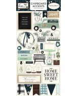 "Home Again 6"" x 13"" Chipboard Accent Stickers - Carta Bella"