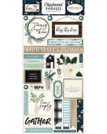 "Home Again 6"" x 13"" Chipboard Phrase Stickers - Carta Bella"